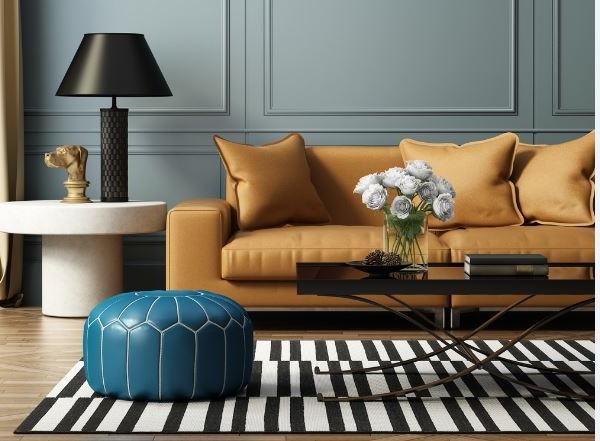 Salon D'une Chambre De Luxe Contemporaine Et élégante