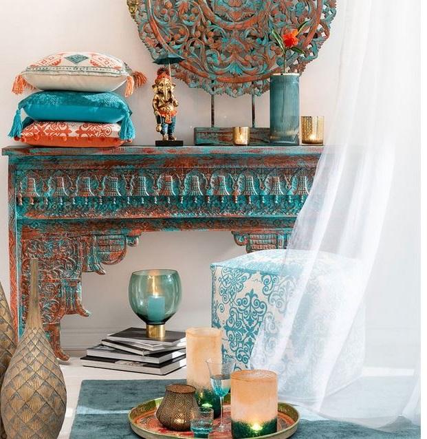 Console Style Oriental En Manguier – Marocco –