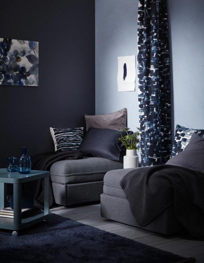 Le Rideau Permet D'obtenir Un Espace De Nuit Quand Le Canapé Est Transformé En Lit