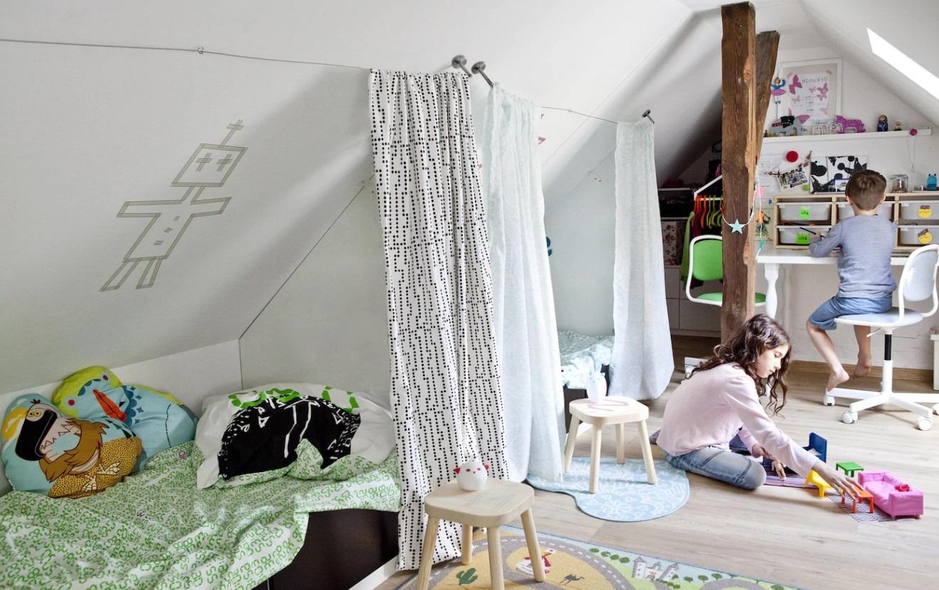 Des Rideaux Pour Séparer L'espace Nuit D'une Chambre Commune