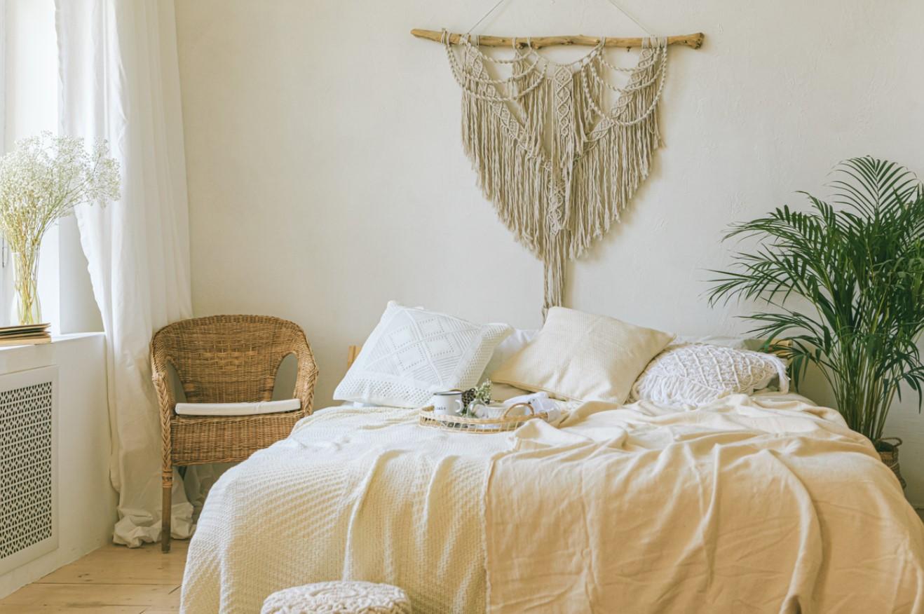 Chambre cocon beige