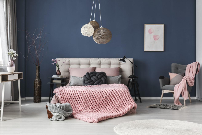 Chambre cocooning bleu
