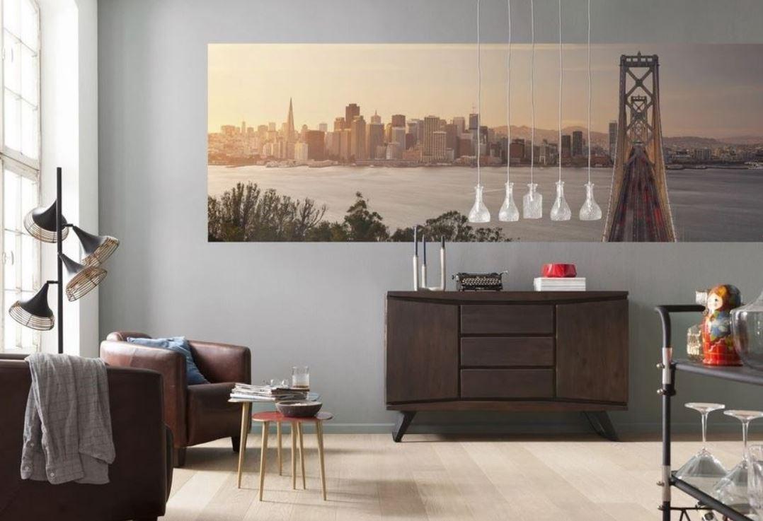 Un Salon Au Style Industriel – Poster Mural –