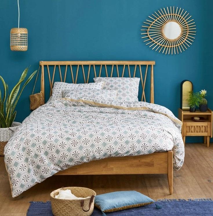 Chambre Bleu Pétrole