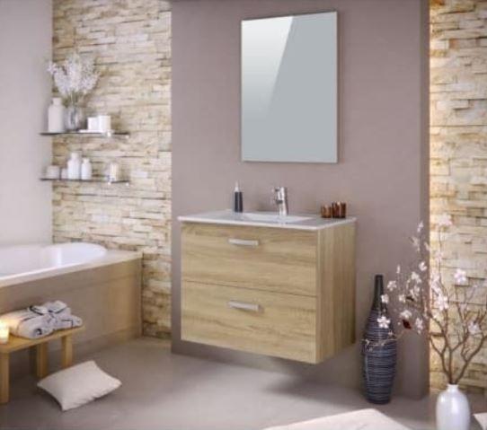 Stella Ensemble Salle De Bain Simple Vasque Avec Miroir –