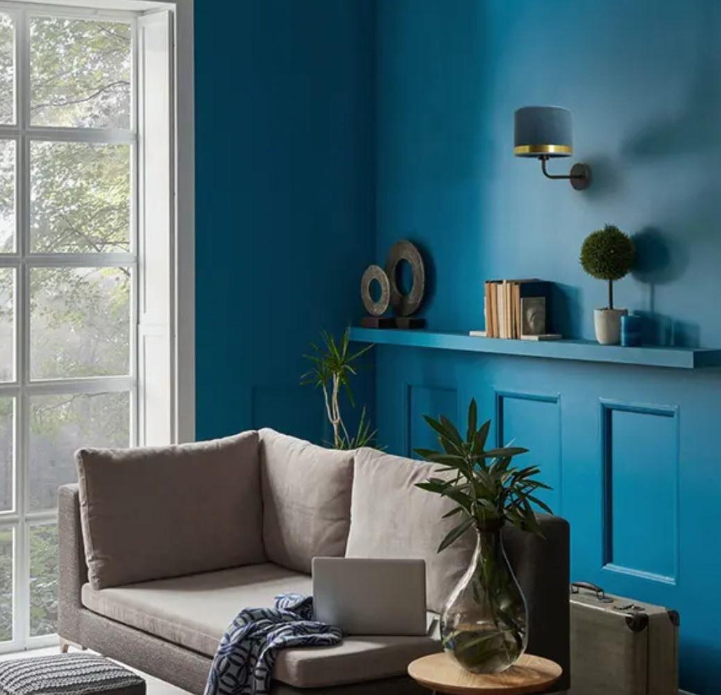 Le Bleu Foncé Dans La Déco – Salon –