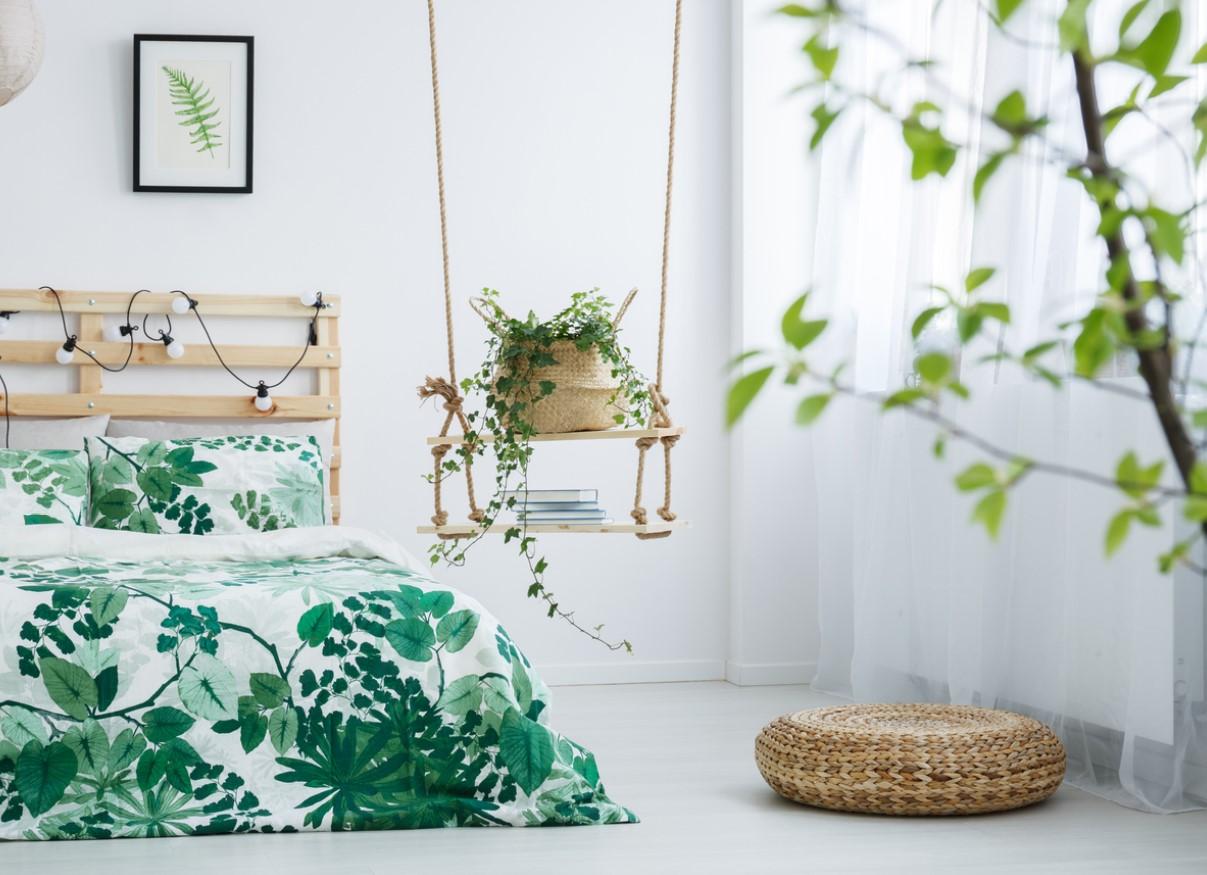 Chambre cocon verte