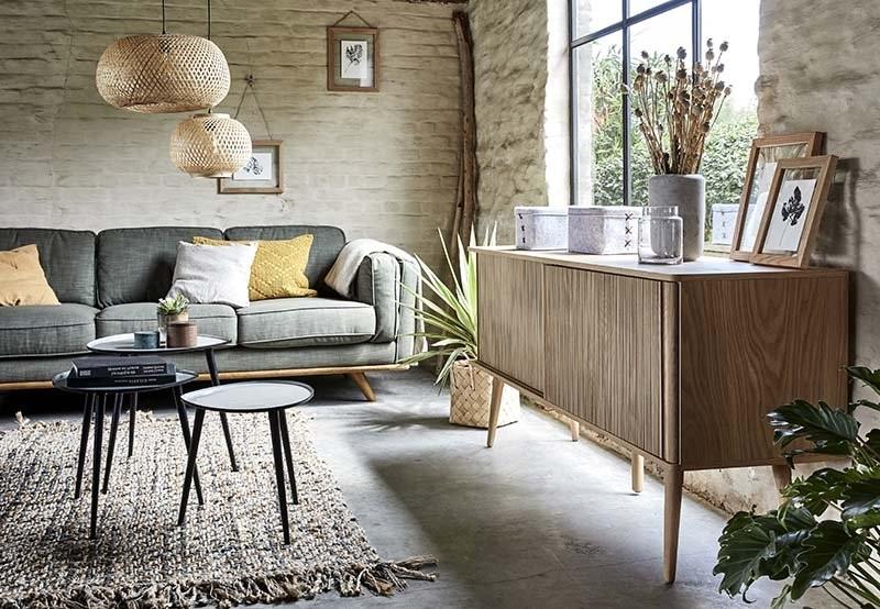 Un Salon Contemporain Et Graphique – Buffet Structuré –