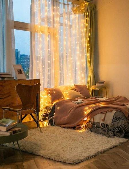 3m Guirlande Lumineuse à Rideau Avec Télécommande