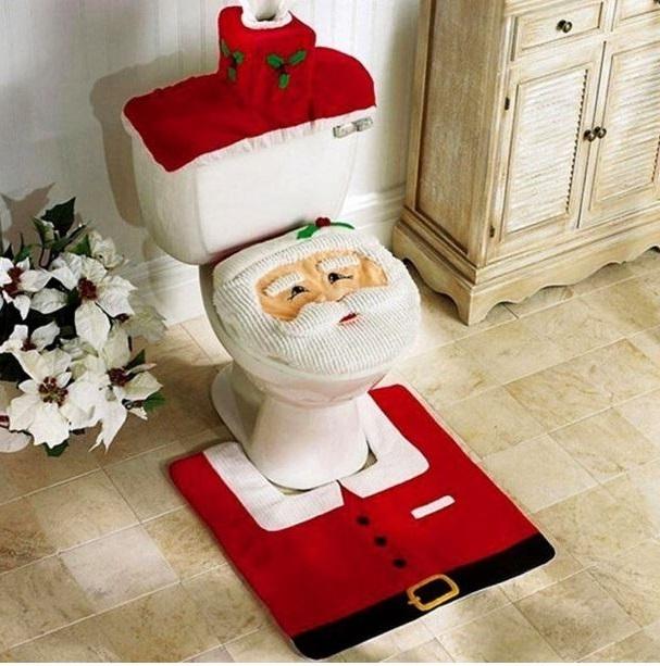 Ensemble De Décoration De Toilettes Père Noël –
