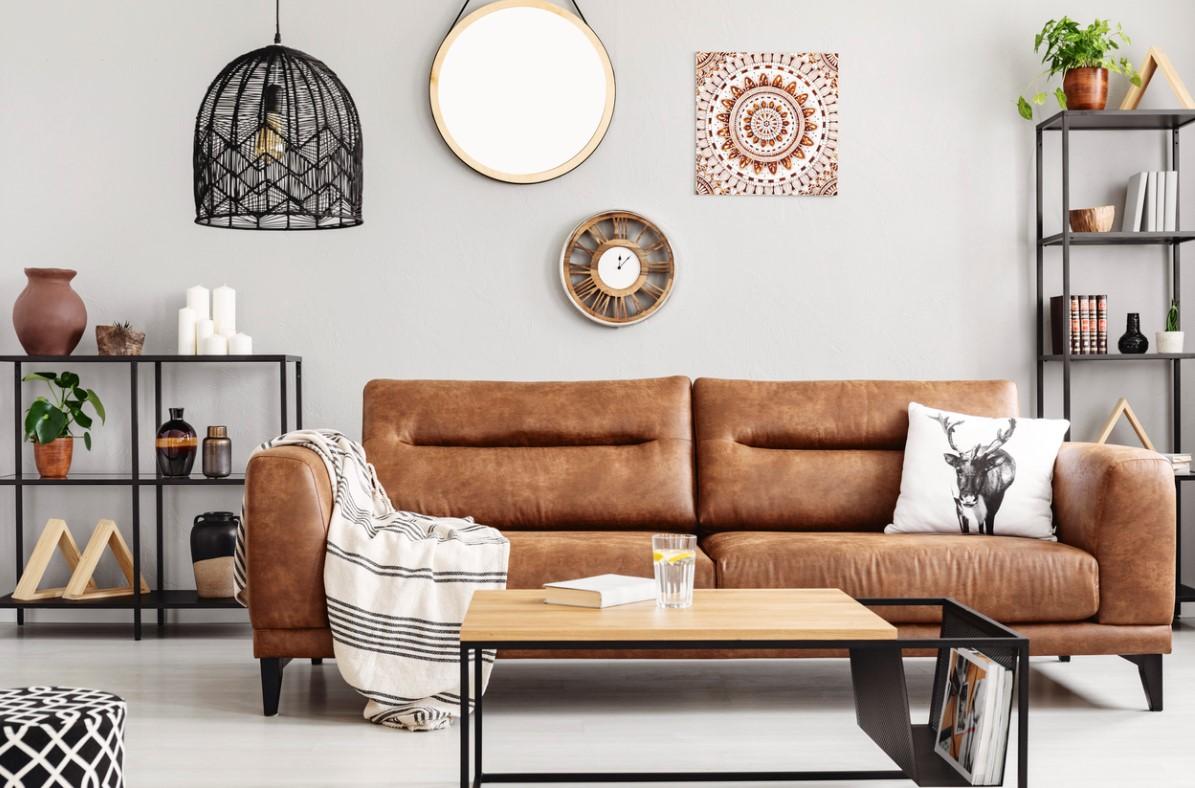 Un Canapé En Cuir Dans Votre Salon Scandinave