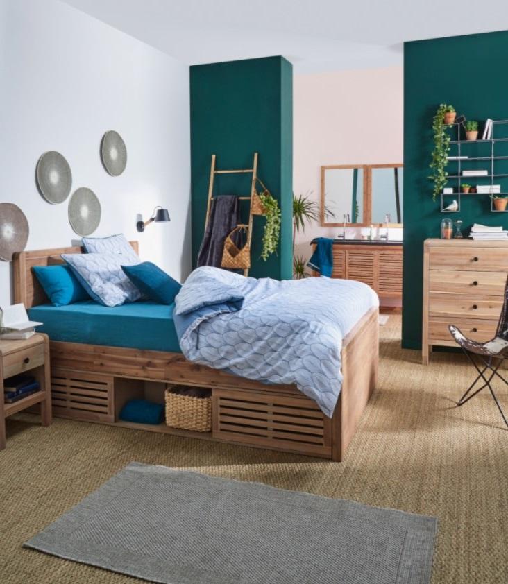 Chambre Bleue Avec Le Lit 2 Places Gaia