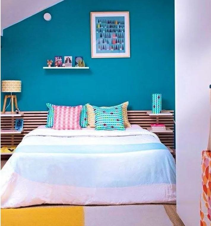 Chambre Moderne Bleu Et Rose