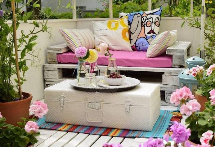 Salon De Jardin Palette Et Valise Vintage –