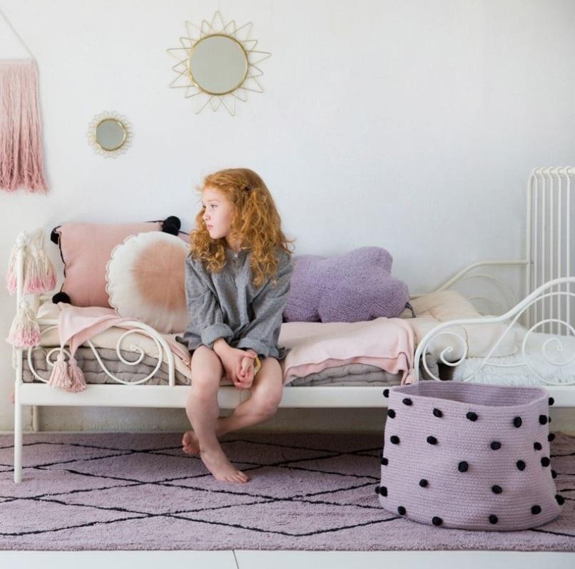 Tapis Parme Et Noir Chambre Enfant
