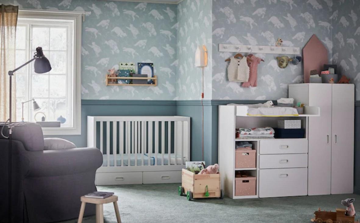 Chambre Bleue Pour Un Bébé