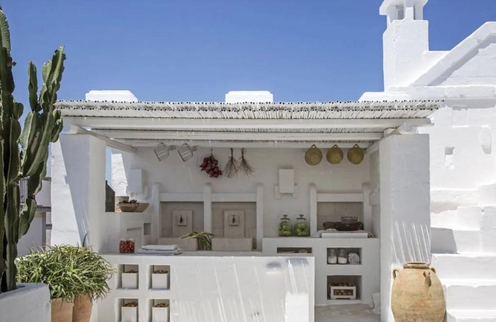 Une Cuisine Extérieure Grec