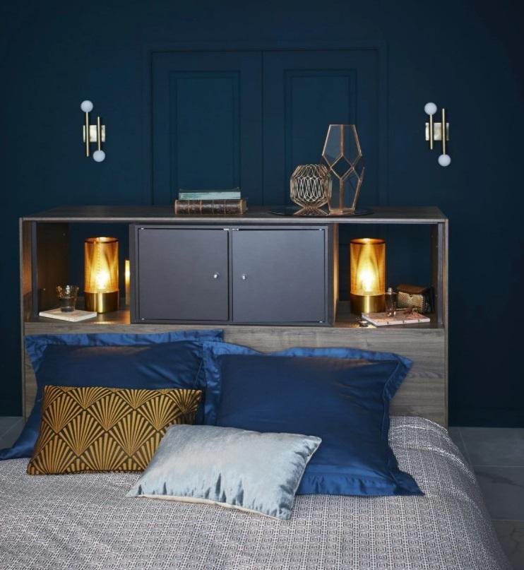Chambre Bleu Canard De Style Art Déco