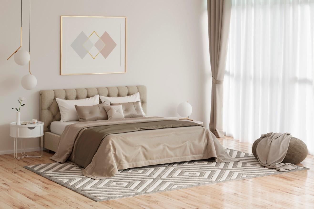 Chambre Moderne Blanche Et Beige
