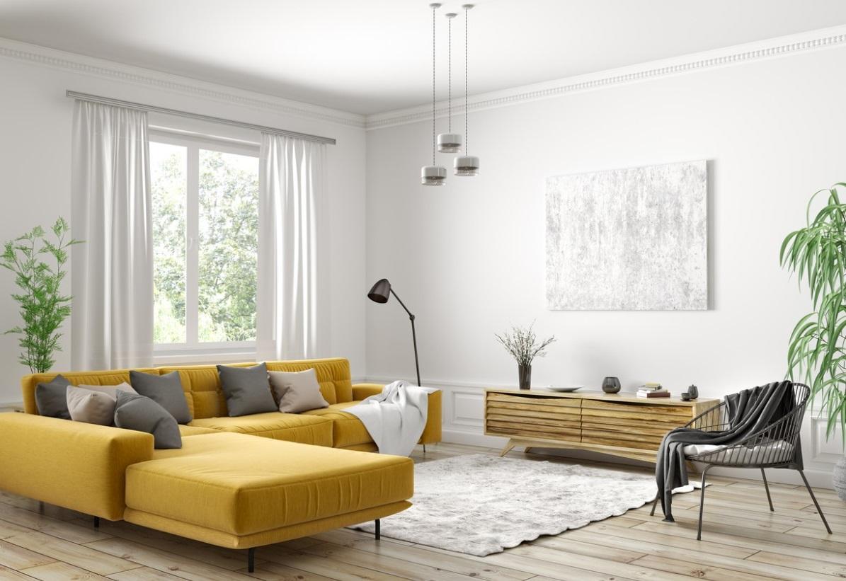 Un élément Coloré Pour Un Salon Moderne