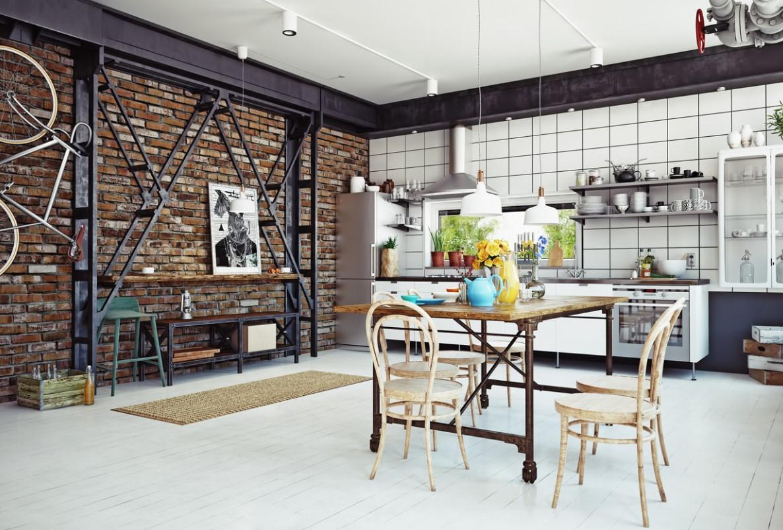 Cuisine De Style Loft
