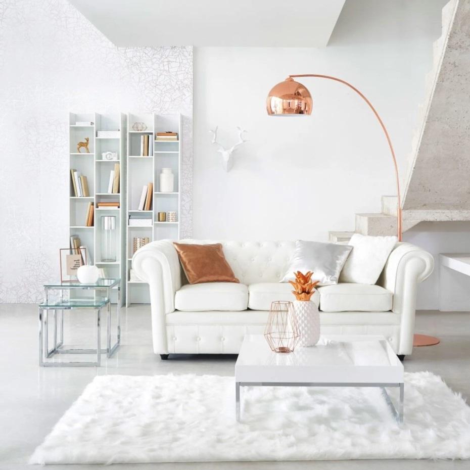 Salon Moderne Avec Une Touche De Couleur