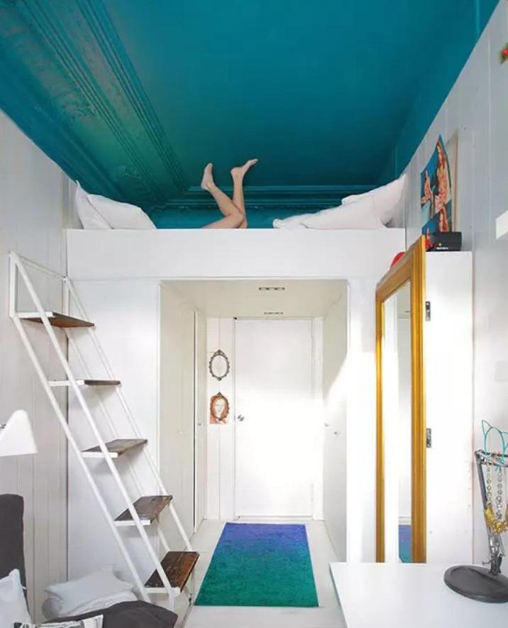 Plafond Bleu Canard