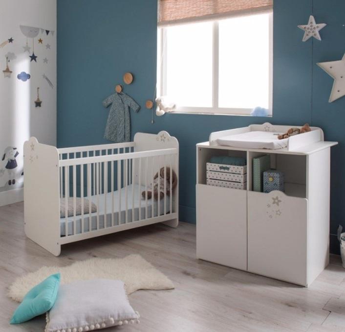 Chambre Bébé Bleu Canard