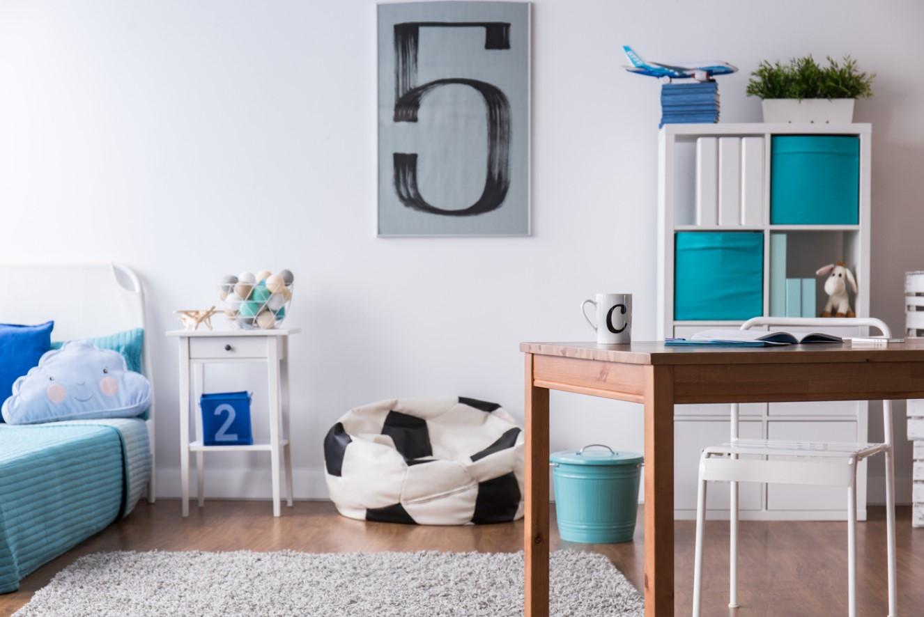 Chambre Enfant Bleu Canard
