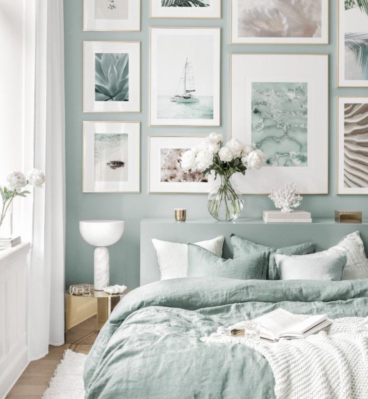 Chambre Bleue Et Blanche