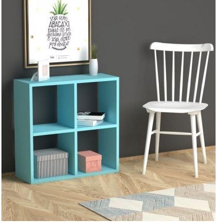Bibliothèque Cube Turquoise –