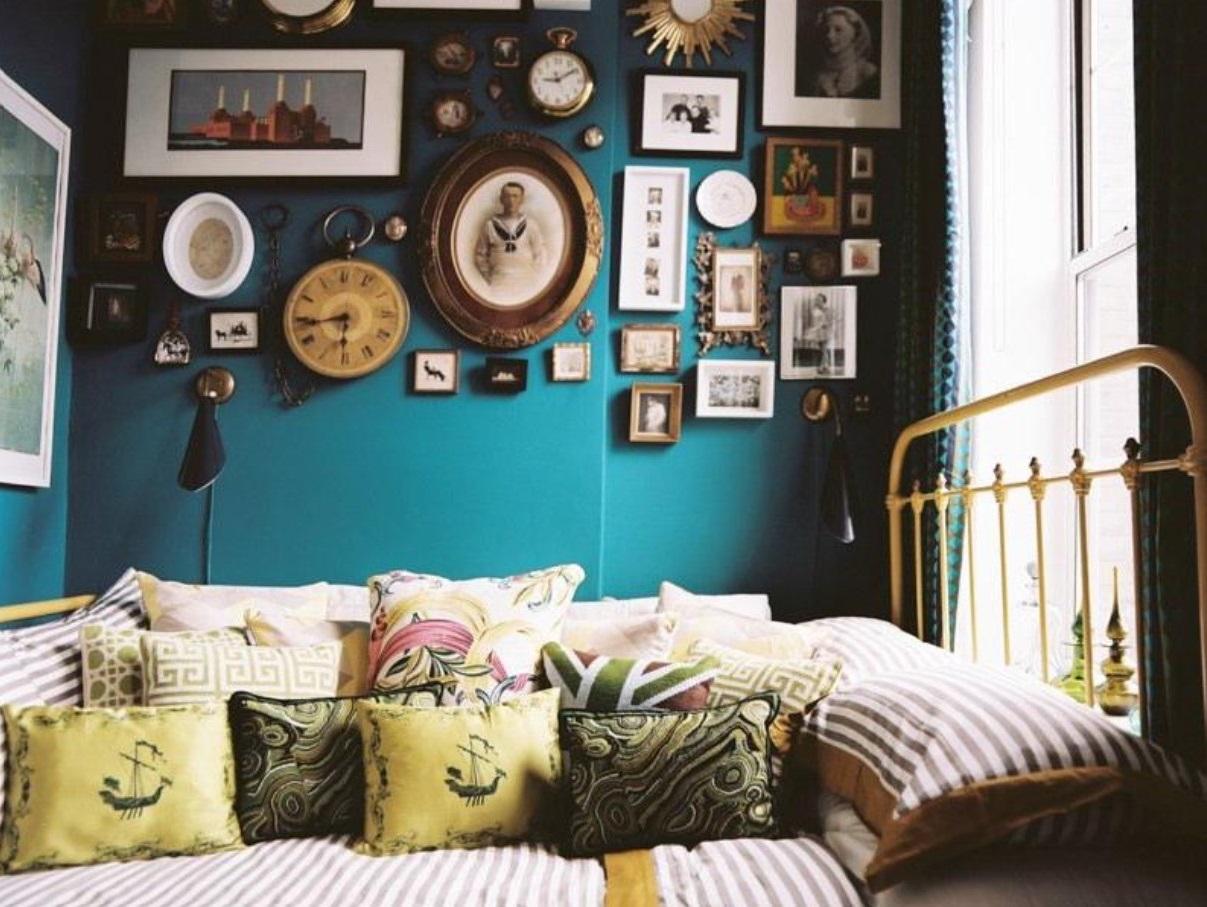 Chambre Bleu Canard Vintage