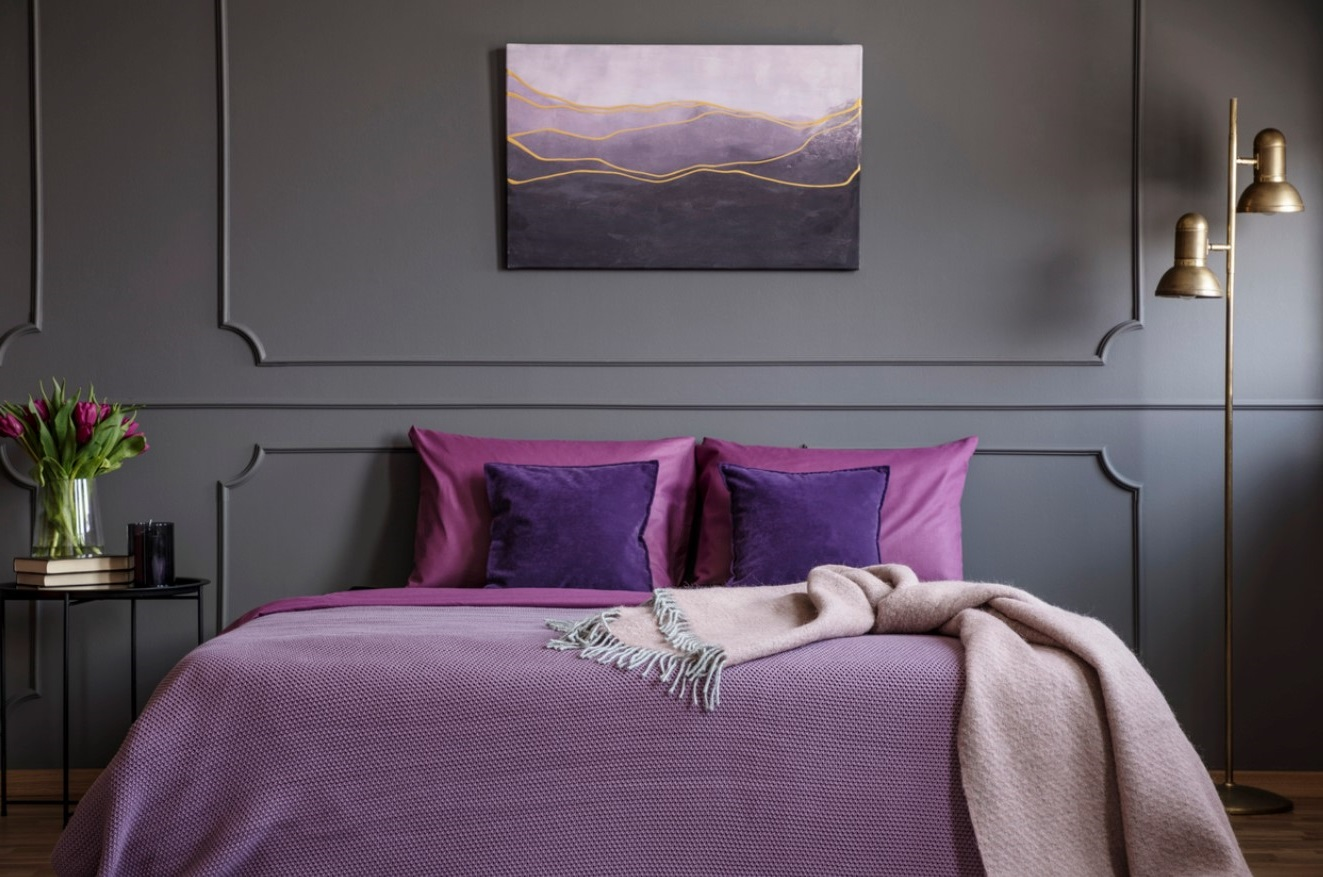 Chambre Dans Les Tons Violets