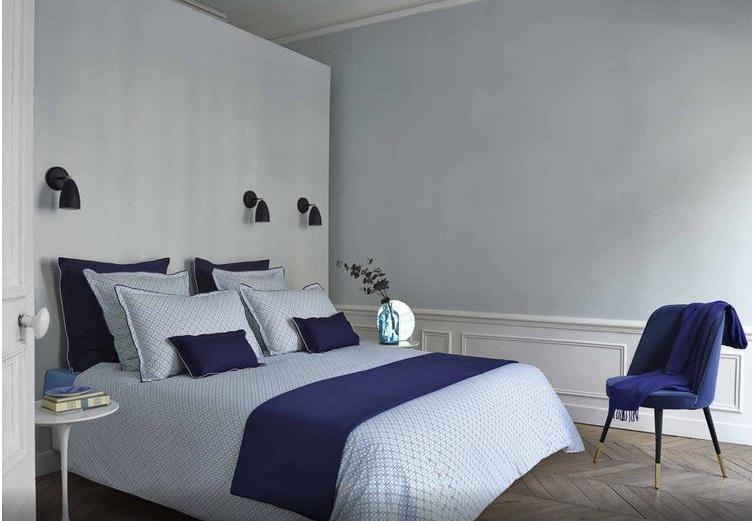 Réussir La Décoration D'une Chambre Bleue, Linge De Lit –