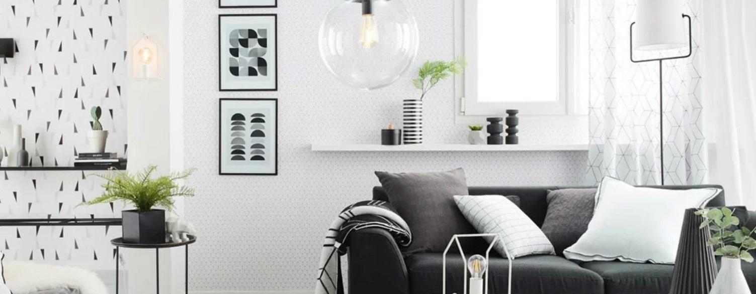 Un Salon Moderne Et Graphique