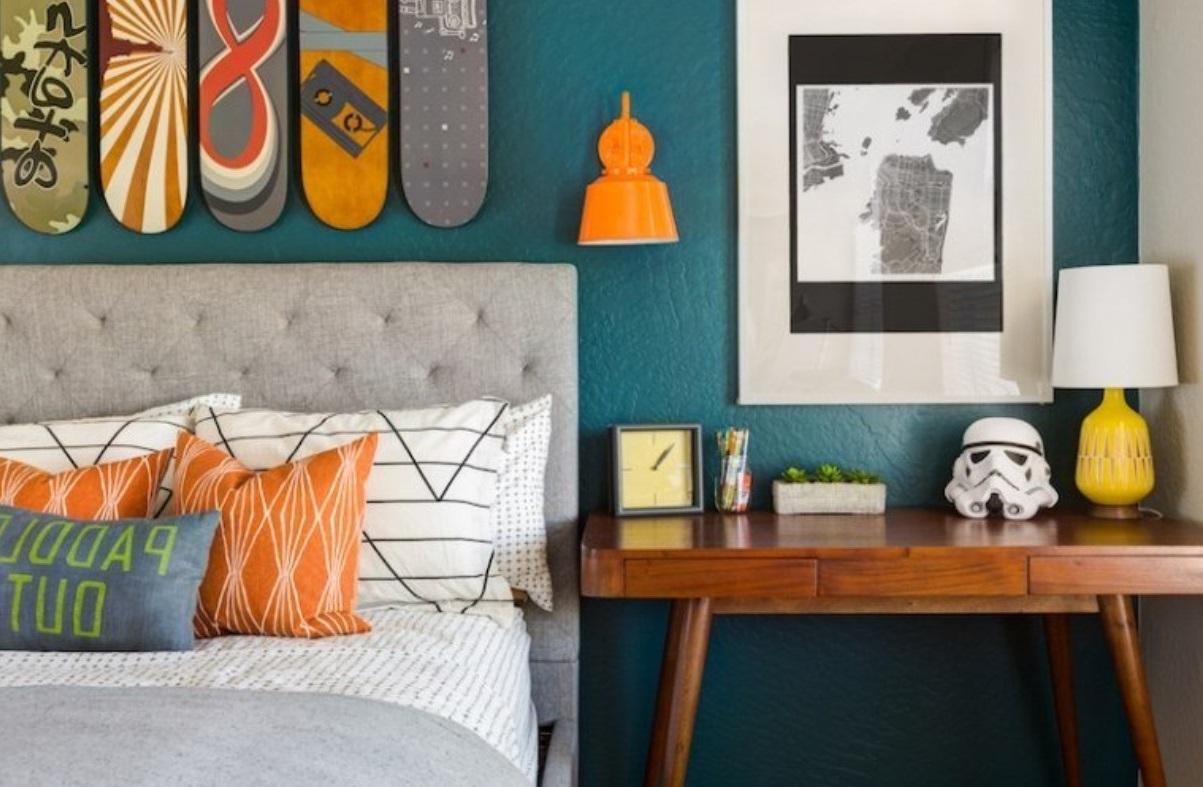Chambre Bleu Canard Et Orange