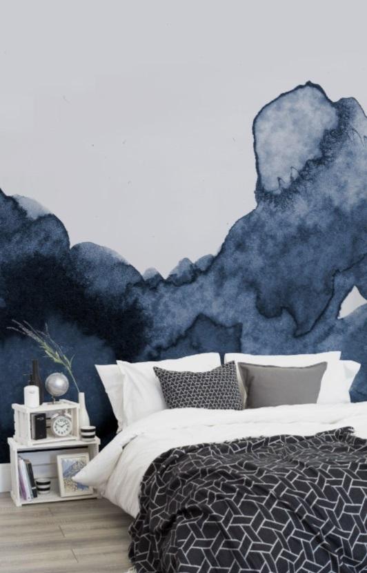 Chambre Bleue Papier Peint