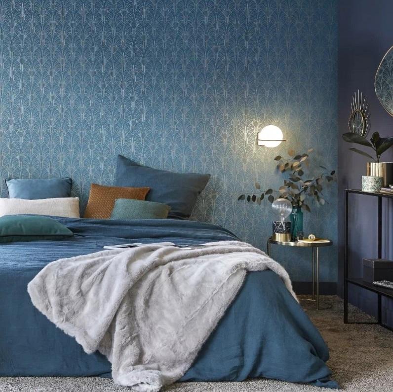 Chambre Bleue De Style Art Déco
