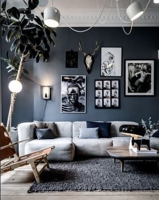 Ambiance Cocooning Avec Du Gris Et Du Bleu –