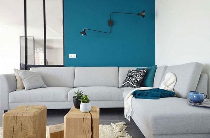 Décoration épurée, Bleu Turquoise Et Gris Clair –