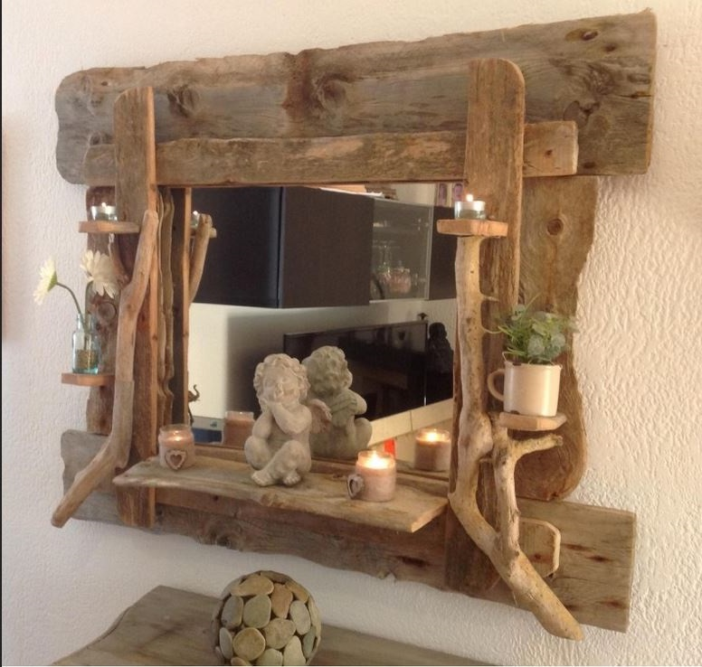 Grand Miroir En Bois Flotté –