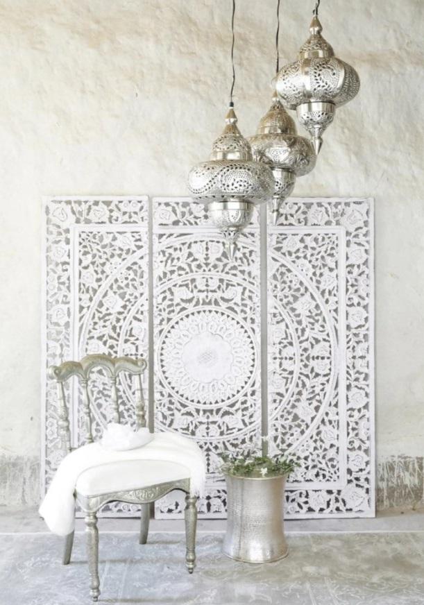 Andaman Triptyque Sculpté Blanc