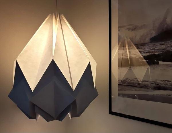 Hanahi Suspension Origami Bicolore En Papier Taille Xl –