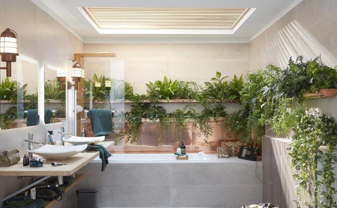 Style Zen Dans Cette Salle De Bain Lumineuse