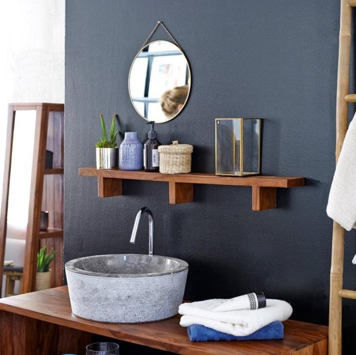 Du Bleu Pour Une Salle De Bain Apaisante