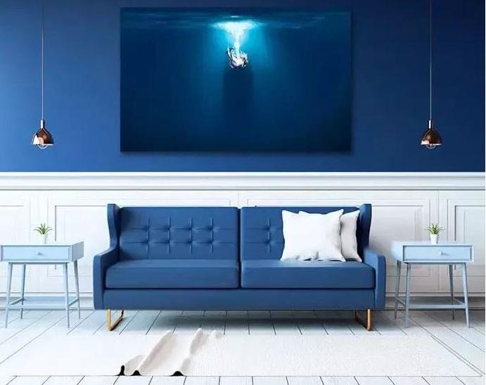 Le Bleu Roi Dans Le Salon –