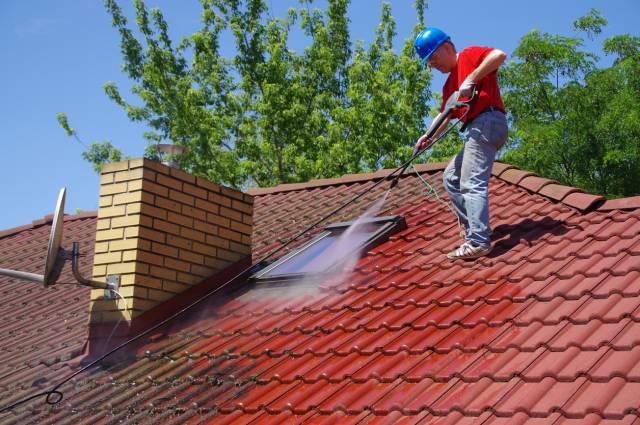 professionnel nettoyage de toiture